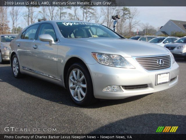mercury silver metallic 2009 lexus ls 460 l awd light. Black Bedroom Furniture Sets. Home Design Ideas
