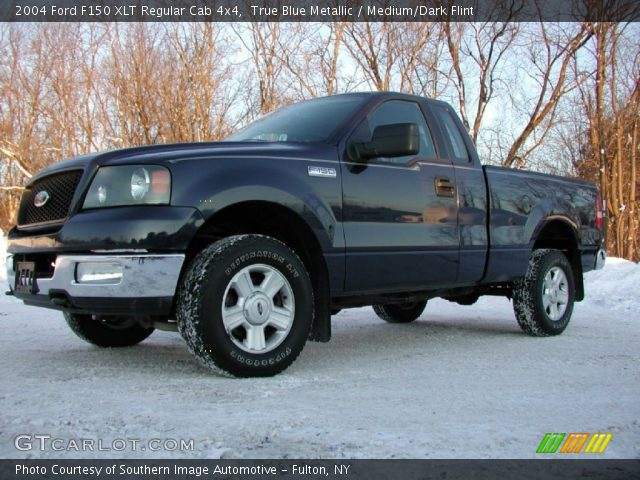 2004 Ford F150 XLT Regular Cab 4x4 in True Blue Metallic