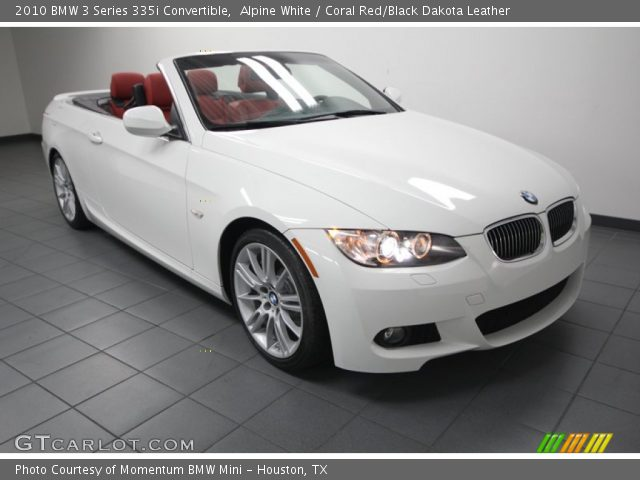 Alpine White 2010 Bmw 3 Series 335i Convertible Coral Red Black Dakota Leather Interior
