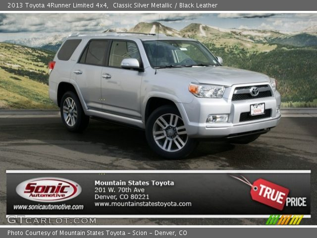 Classic Silver Metallic 2013 Toyota 4runner Limited 4x4 Black Leather Interior Gtcarlot