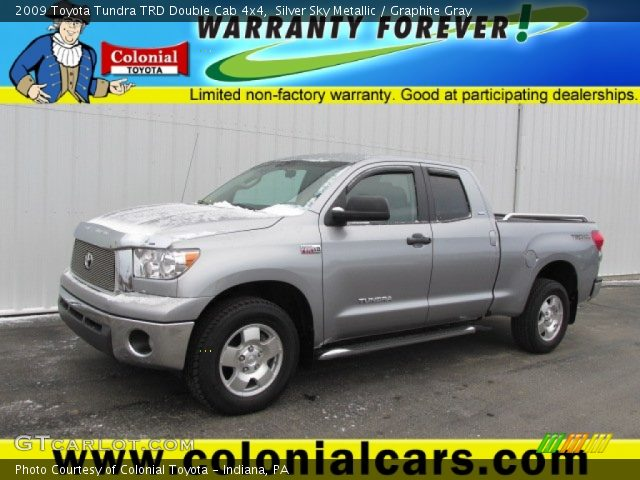 silver sky metallic 2009 toyota tundra trd double cab 4x4 graphite gray interior gtcarlot. Black Bedroom Furniture Sets. Home Design Ideas