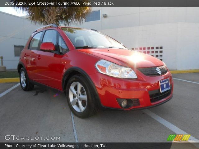 2009 Suzuki SX4 Crossover Touring AWD in Vivid Red