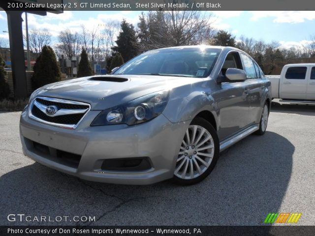 steel silver metallic 2010 subaru legacy 2 5 gt limited sedan off black interior gtcarlot. Black Bedroom Furniture Sets. Home Design Ideas