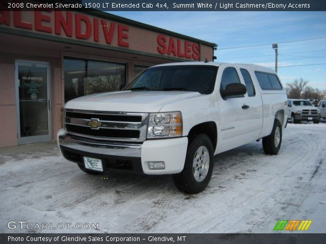 summit white 2008 chevrolet silverado 1500 lt extended cab 4x4 light cashmere ebony accents. Black Bedroom Furniture Sets. Home Design Ideas