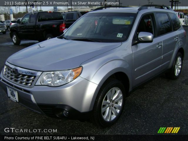 ice silver metallic 2013 subaru forester 2 5 x premium platinum interior. Black Bedroom Furniture Sets. Home Design Ideas