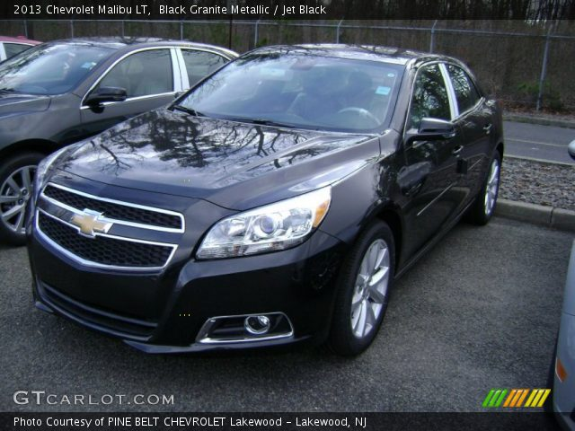 Black Granite Metallic 2013 Chevrolet Malibu Lt Jet Black Interior Vehicle