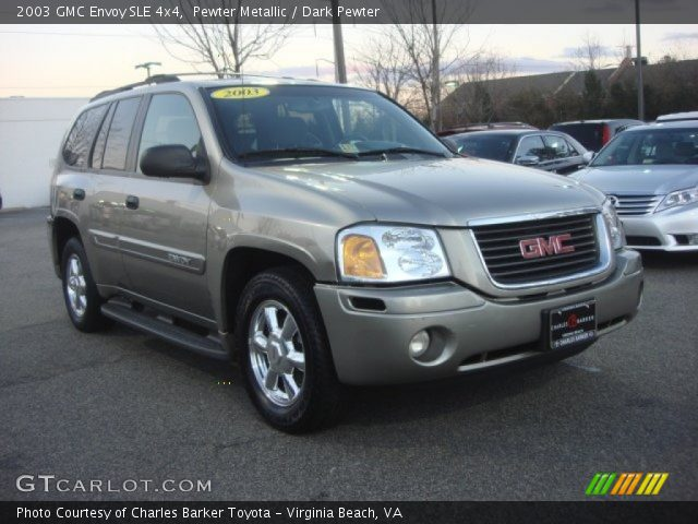 pewter metallic 2003 gmc envoy sle 4x4 dark pewter. Black Bedroom Furniture Sets. Home Design Ideas