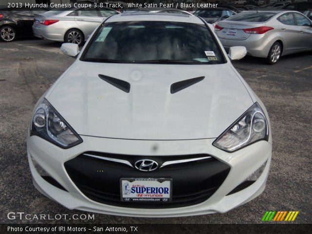 white satin pearl 2013 hyundai genesis coupe 3 8 track black leather interior. Black Bedroom Furniture Sets. Home Design Ideas