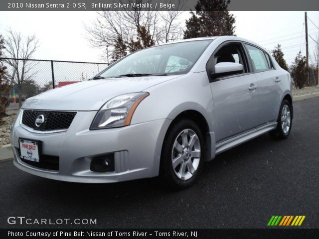 brilliant silver metallic 2010 nissan sentra 2 0 sr beige interior vehicle. Black Bedroom Furniture Sets. Home Design Ideas