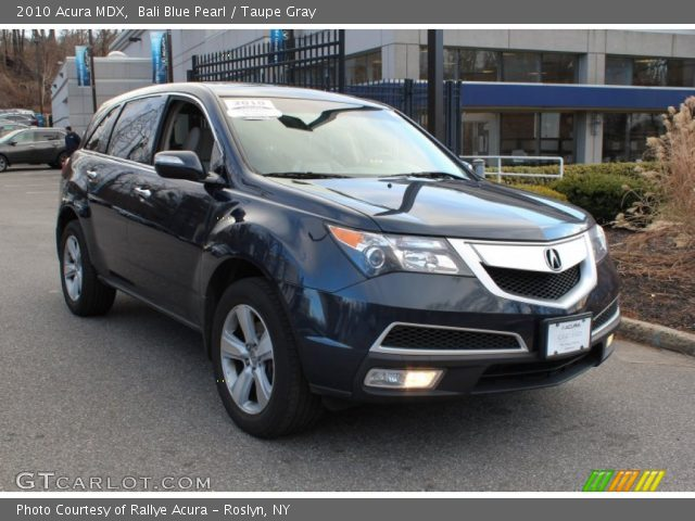 Bali Blue Pearl 2010 Acura Mdx Taupe Gray Interior Vehicle Archive 76681953
