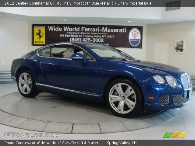 2012 Bentley Continental GT Mulliner in Moroccan Blue Metallic