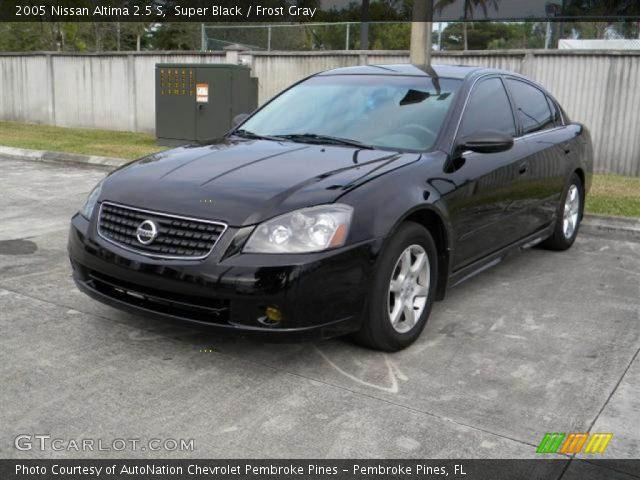Super Black 2005 Nissan Altima 25 S Frost Gray Interior