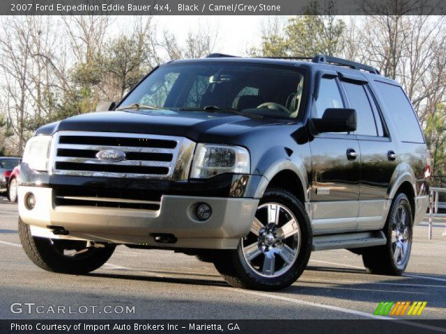 black 2007 ford expedition eddie bauer 4x4 camel grey stone interior. Black Bedroom Furniture Sets. Home Design Ideas
