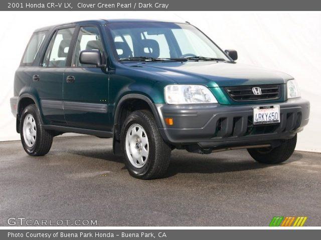 clover green pearl 2001 honda cr v lx dark gray interior vehicle archive. Black Bedroom Furniture Sets. Home Design Ideas