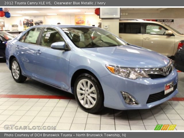 clearwater blue metallic 2012 toyota camry xle v6 ivory interior vehicle. Black Bedroom Furniture Sets. Home Design Ideas
