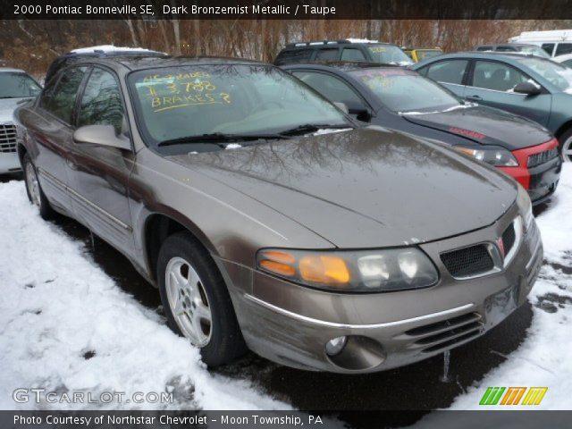 2000 Pontiac Bonneville SE in Dark Bronzemist Metallic