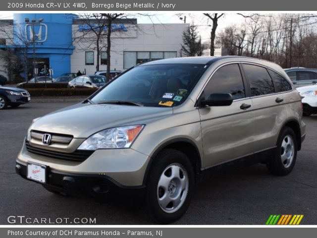 borrego beige metallic 2009 honda cr v lx 4wd ivory interior vehicle. Black Bedroom Furniture Sets. Home Design Ideas