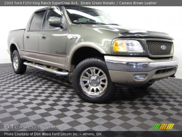 2003 Ford F150 King Ranch SuperCrew 4x4 in Estate Green Metallic