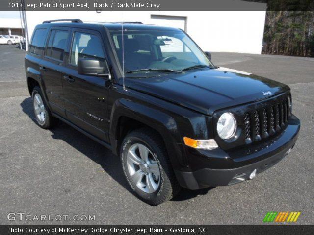 black 2013 jeep patriot sport 4x4 dark slate gray interior vehicle archive. Black Bedroom Furniture Sets. Home Design Ideas