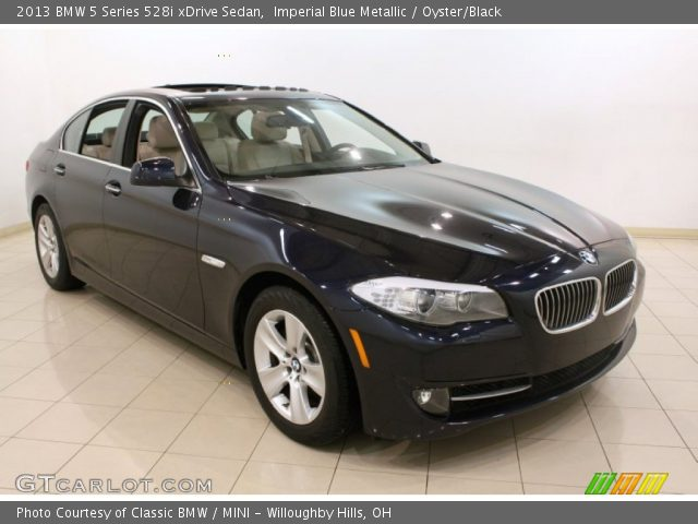 imperial blue metallic 2013 bmw 5 series 528i xdrive sedan oyster black interior gtcarlot. Black Bedroom Furniture Sets. Home Design Ideas