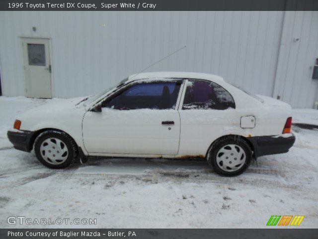 1996 Toyota Tercel DX Coupe in Super White