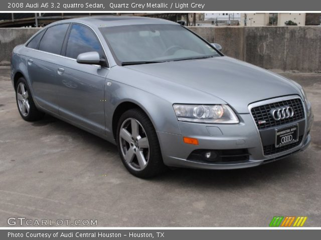 quartz grey metallic 2008 audi a6 3 2 quattro sedan light grey interior. Black Bedroom Furniture Sets. Home Design Ideas