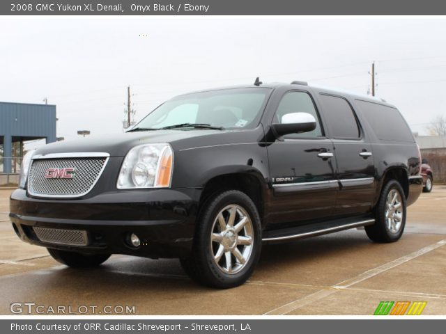 onyx black 2008 gmc yukon xl denali ebony interior vehicle archive 76873942. Black Bedroom Furniture Sets. Home Design Ideas