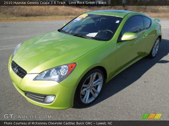 lime rock green 2010 hyundai genesis coupe 3 8 track black interior vehicle. Black Bedroom Furniture Sets. Home Design Ideas