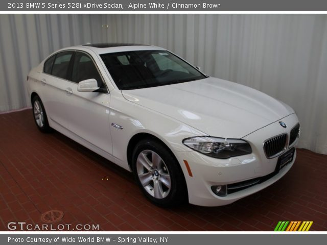 alpine white 2013 bmw 5 series 528i xdrive sedan cinnamon brown interior. Black Bedroom Furniture Sets. Home Design Ideas