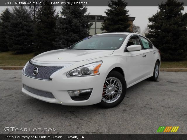 Pearl White 2013 Nissan Altima 2 5 S Charcoal Interior