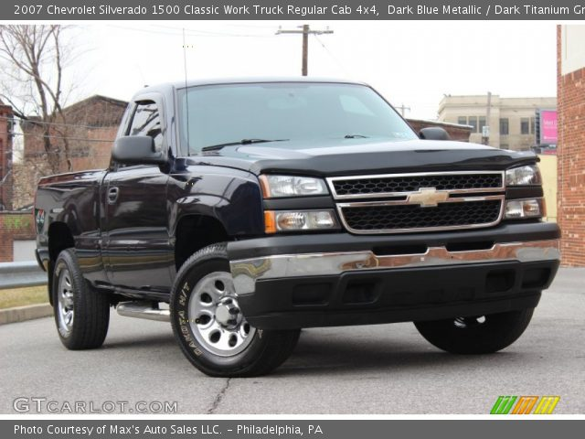 2007 Chevrolet Silverado 1500 Classic Work Truck Regular Cab 4x4 in Dark Blue Metallic