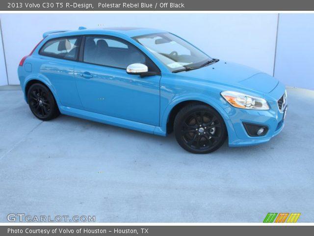 polestar rebel blue 2013 volvo c30 t5 r design off black interior vehicle. Black Bedroom Furniture Sets. Home Design Ideas