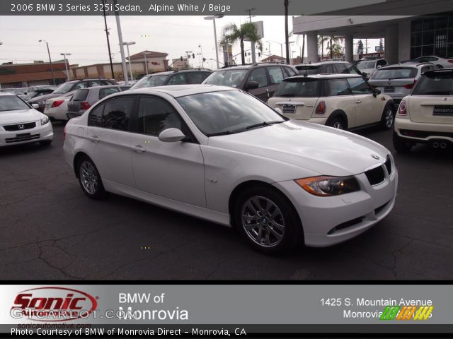 Alpine White 2006 Bmw 3 Series 325i Sedan Beige