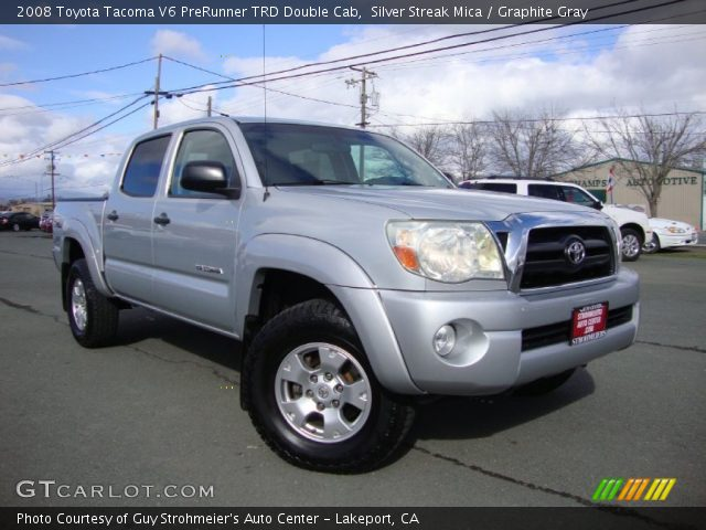 silver streak mica 2008 toyota tacoma v6 prerunner trd double cab graphite gray interior. Black Bedroom Furniture Sets. Home Design Ideas