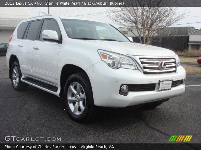 starfire white pearl 2012 lexus gx 460 black auburn bubinga interior. Black Bedroom Furniture Sets. Home Design Ideas