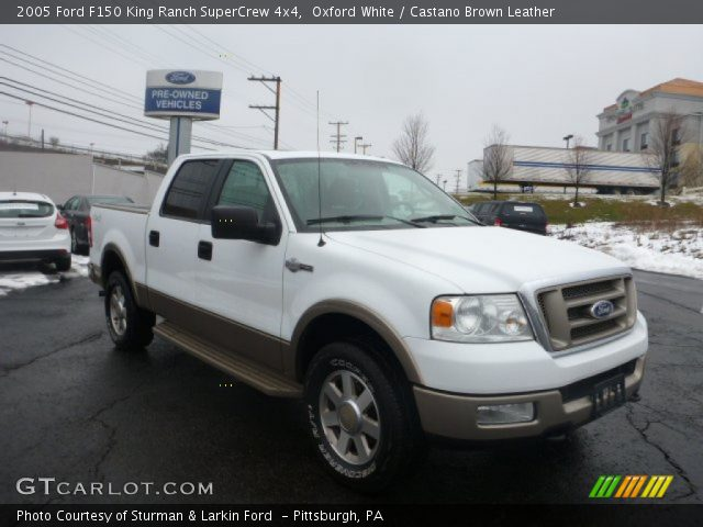Oxford White 2005 Ford F150 King Ranch Supercrew 4x4 Castano Brown Leather Interior