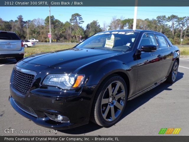 Gloss Black 2012 Chrysler 300 Srt8 Black Interior Vehicle Archive 77042725