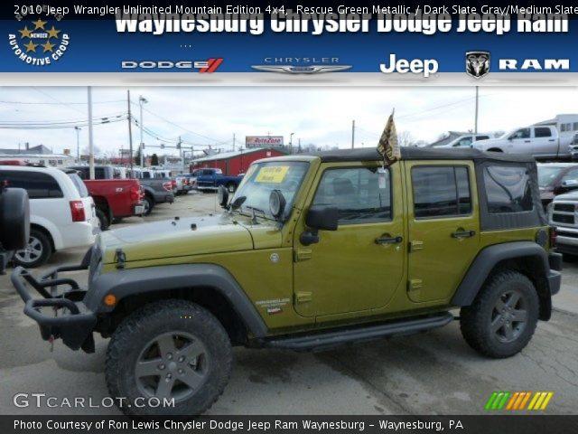 Rescue Green Metallic 2010 Jeep Wrangler Unlimited