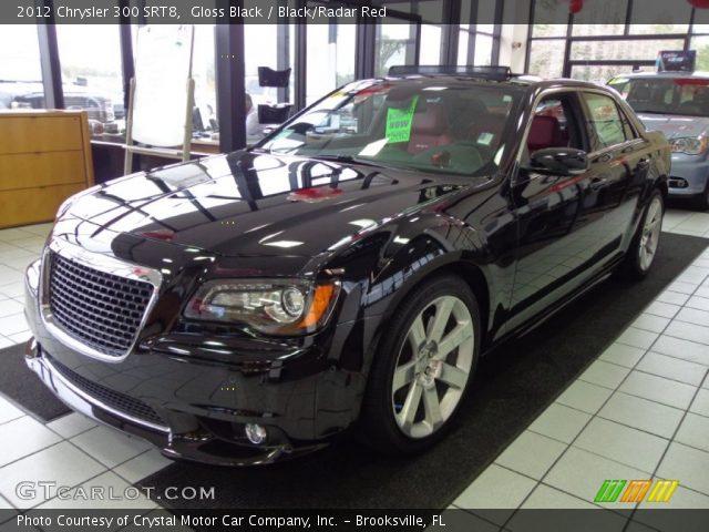 Gloss Black 2012 Chrysler 300 Srt8 Black Radar Red Interior Vehicle Archive