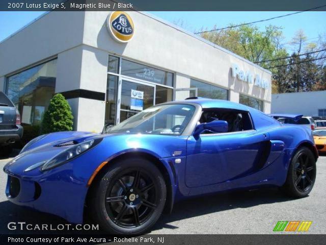 magnetic blue 2007 lotus exige s black interior. Black Bedroom Furniture Sets. Home Design Ideas