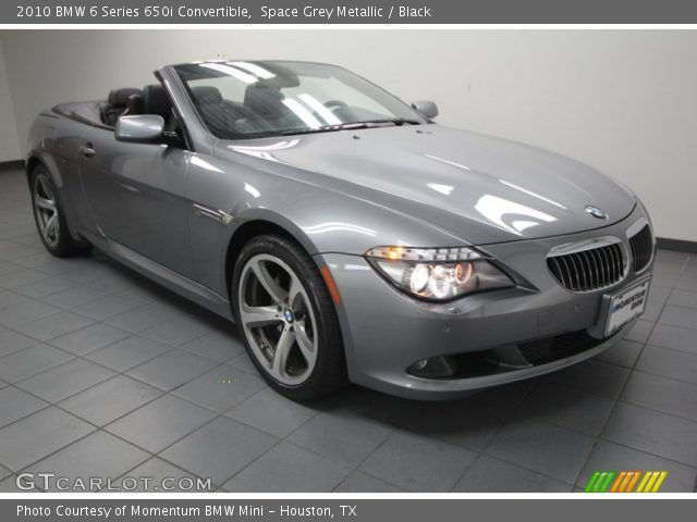 space grey metallic 2010 bmw 6 series 650i convertible. Black Bedroom Furniture Sets. Home Design Ideas