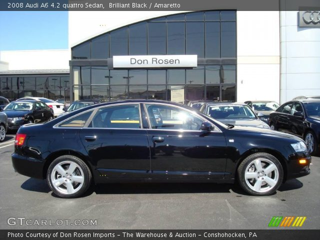 brilliant black 2008 audi a6 4 2 quattro sedan amaretto interior vehicle. Black Bedroom Furniture Sets. Home Design Ideas