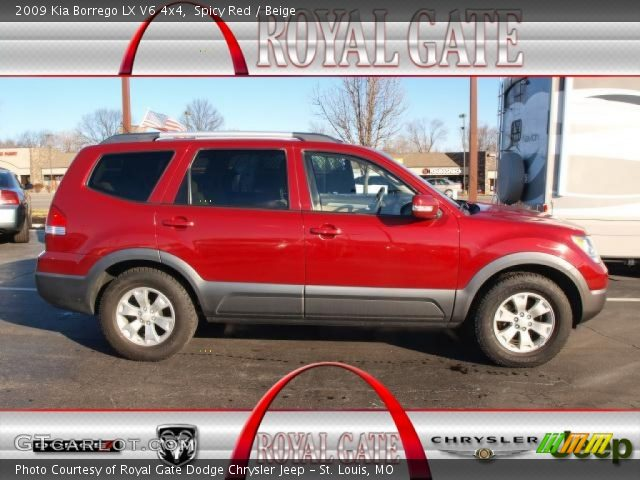 spicy red 2009 kia borrego lx v6 4x4 beige interior. Black Bedroom Furniture Sets. Home Design Ideas