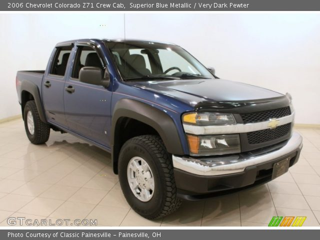superior blue metallic 2006 chevrolet colorado z71 crew cab very dark pewter interior. Black Bedroom Furniture Sets. Home Design Ideas