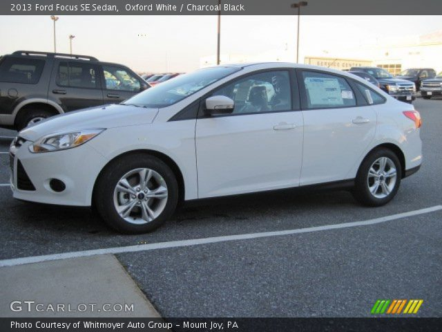 Oxford White - 2013 Ford Focus SE Sedan - Charcoal Black ...