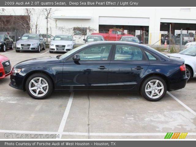 Audi a4 2009 Blue 2009 Audi a4 2 0t Quattro