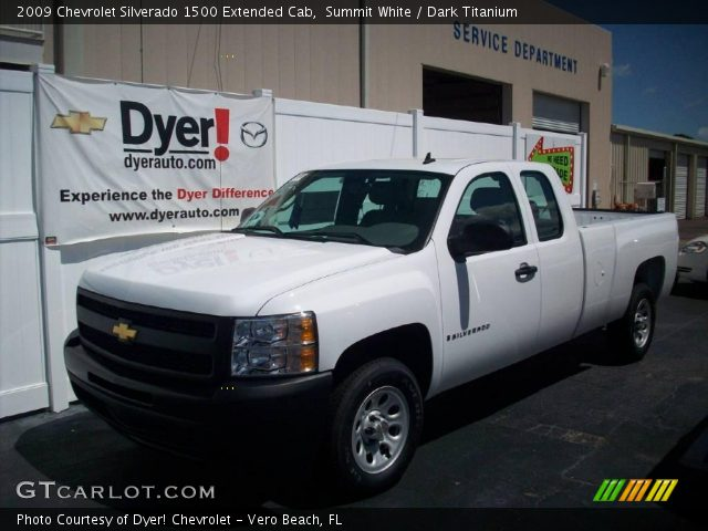summit white 2009 chevrolet silverado 1500 extended cab dark titanium interior gtcarlot. Black Bedroom Furniture Sets. Home Design Ideas