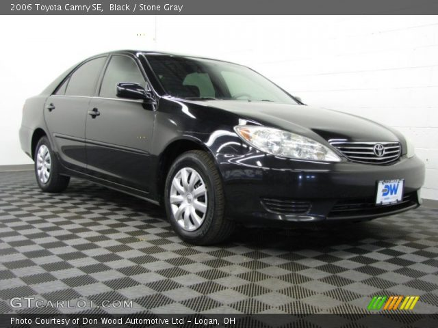 black 2006 toyota camry se stone gray interior vehicle archive 77107448. Black Bedroom Furniture Sets. Home Design Ideas