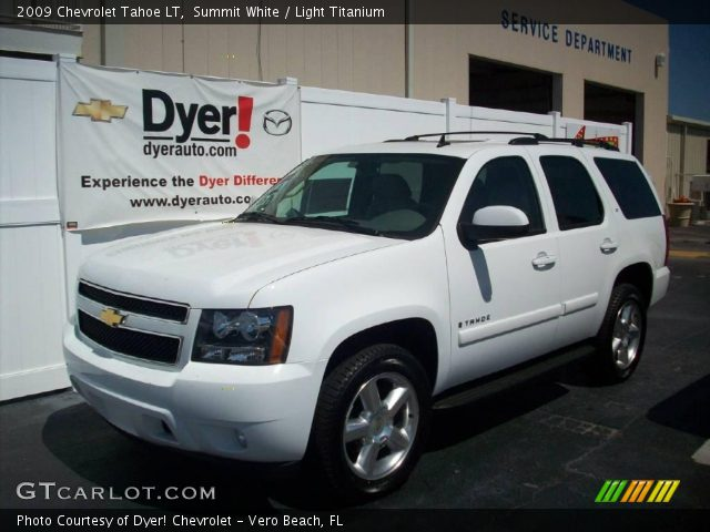 summit white 2009 chevrolet tahoe lt light titanium. Black Bedroom Furniture Sets. Home Design Ideas