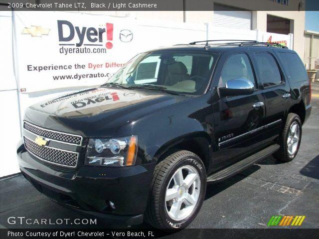 Black 2009 Chevrolet Tahoe Ltz Light Cashmere Interior Vehicle Archive 7695928